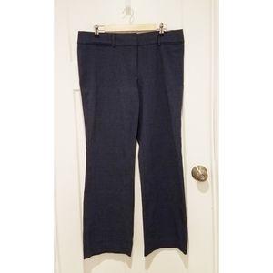 LOFT Marisa Trouser size 12 Navy Linen